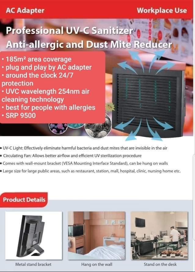 Professional UVC Sanitizer Filterless Air Purifier