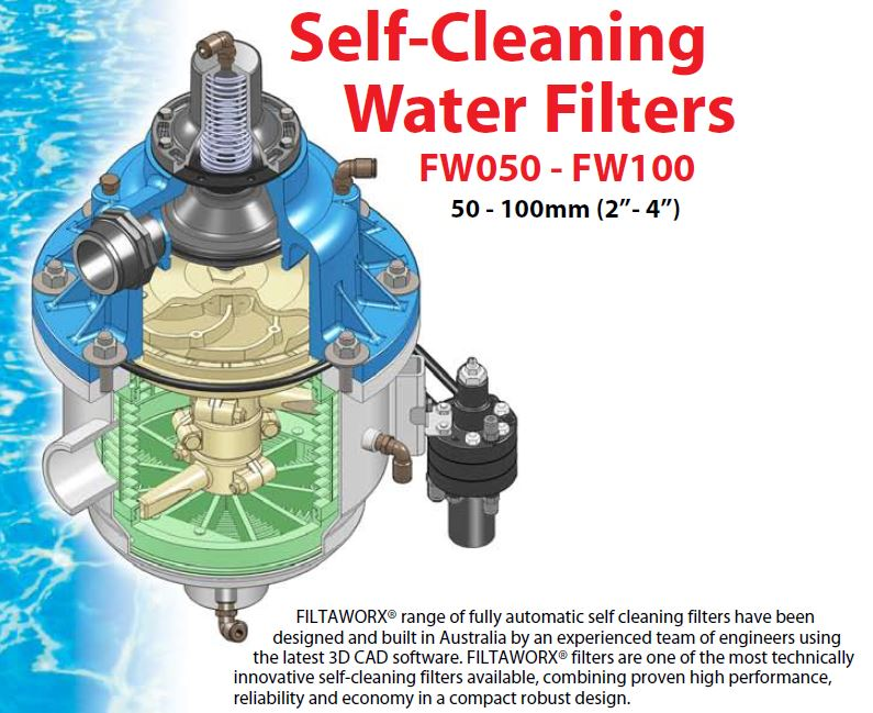 Filtaworx Self Cleaning Water Filter